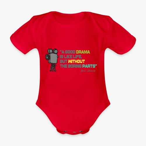 Pasión por el cine - Body orgánico de maga corta para bebé
