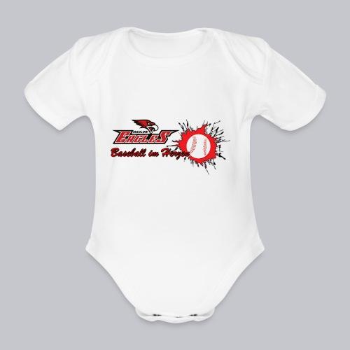 Baseball im Herzen - Baby Bio-Kurzarm-Body