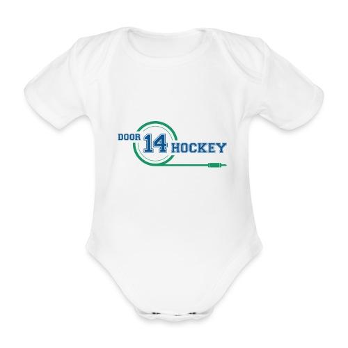 D14 HOCKEY LOGO - Organic Short-sleeved Baby Bodysuit