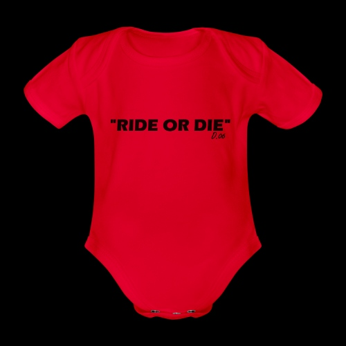Ride or die (noir) - Body Bébé bio manches courtes