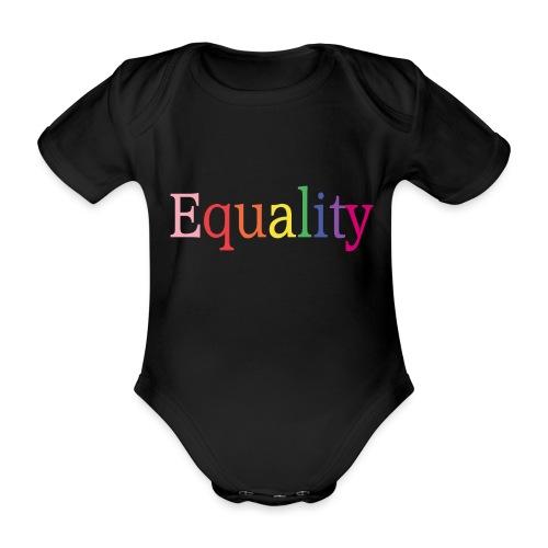 Equality   Regenbogen   LGBT   Proud - Baby Bio-Kurzarm-Body