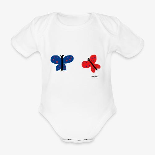 Perhoset - Vauvan lyhythihainen luomu-body