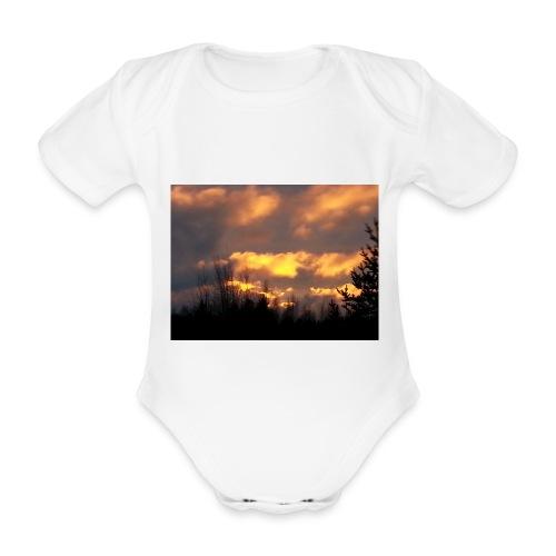 Iltarusko - Vauvan lyhythihainen luomu-body