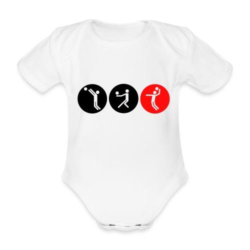 Volleyball symbole bicolor - Baby Bio-Kurzarm-Body