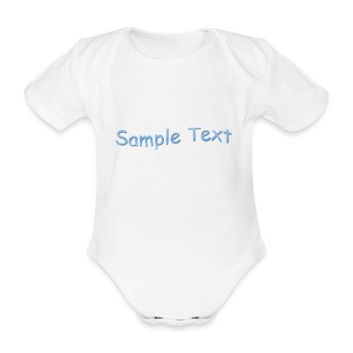 SAMPLE TEXT CAP - Organic Short-sleeved Baby Bodysuit