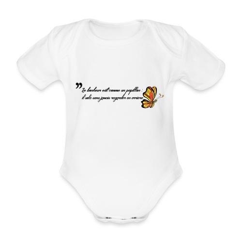 Papillon de bonheur - Body Bébé bio manches courtes