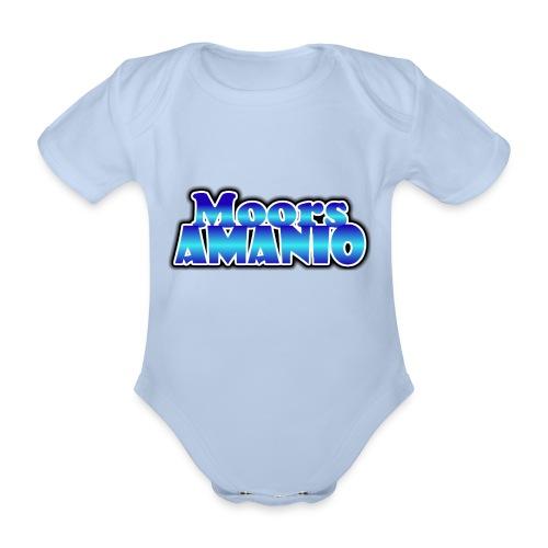 MoorsAmanioLogo - Baby bio-rompertje met korte mouwen