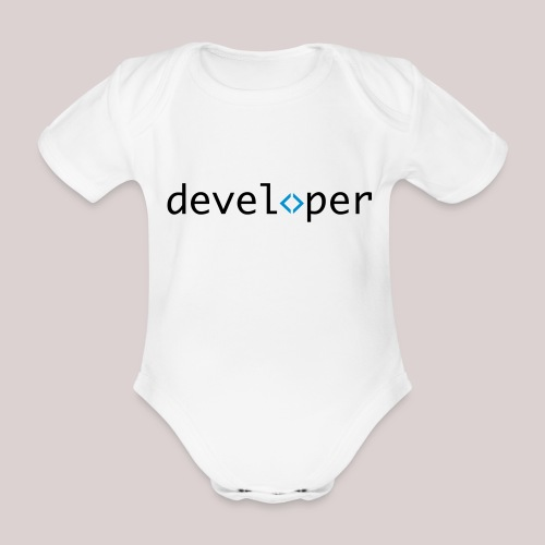 developer, coder, geek, hipster, nerd - Baby Bio-Kurzarm-Body