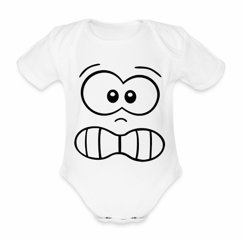 Gesicht - Baby Bio-Kurzarm-Body