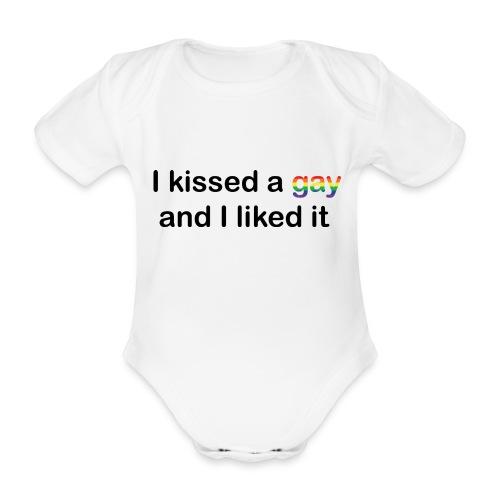 I kissed a gay - Organic Short-sleeved Baby Bodysuit