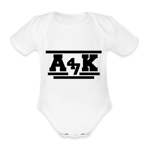 - A _K - - Organic Short-sleeved Baby Bodysuit
