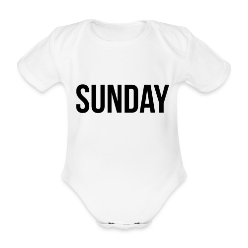 Sunday - Organic Short-sleeved Baby Bodysuit