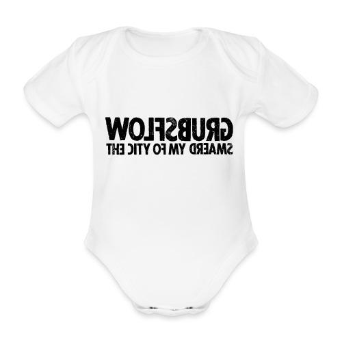 Wolfsburg (black_oldstyle) - Baby Bio-Kurzarm-Body