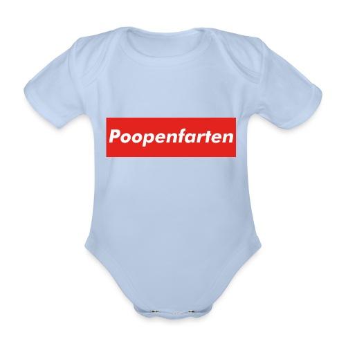 Poopenfarten Meme - Organic Short-sleeved Baby Bodysuit