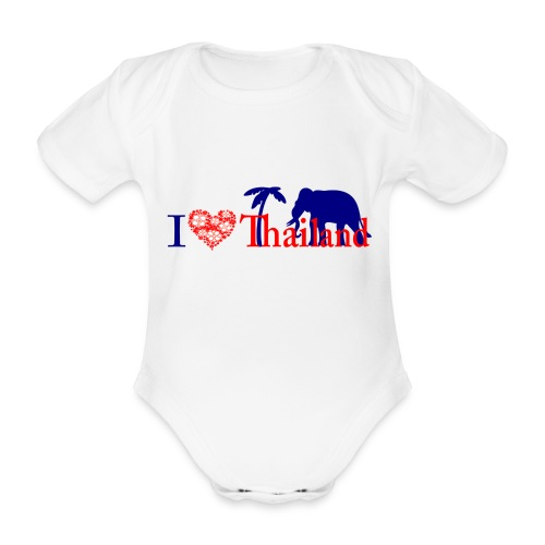 I love Thailand - Organic Short-sleeved Baby Bodysuit