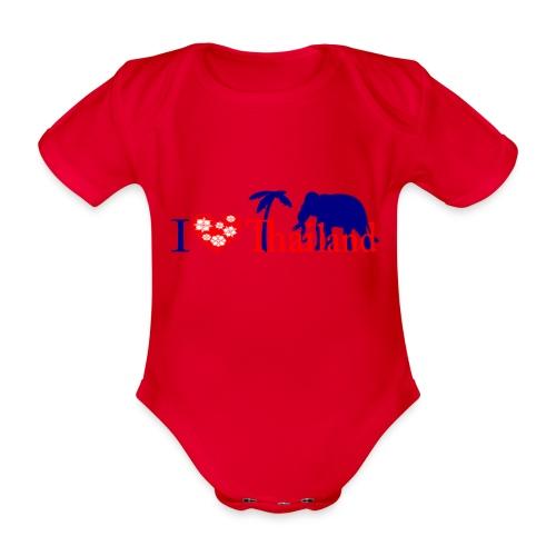 I love Thailand - Organic Short-sleeved Baby Bodysuit