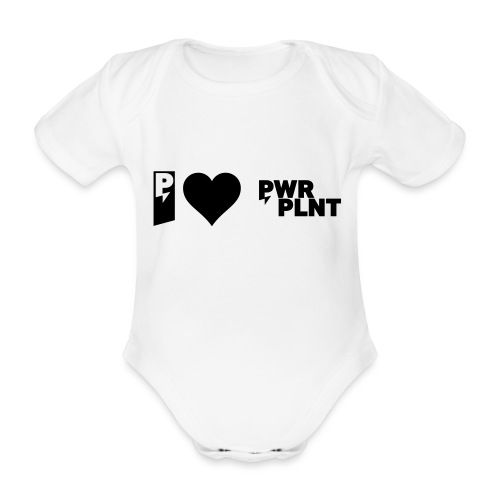 I LOVE PWR PLNT 01 - Organic Short-sleeved Baby Bodysuit