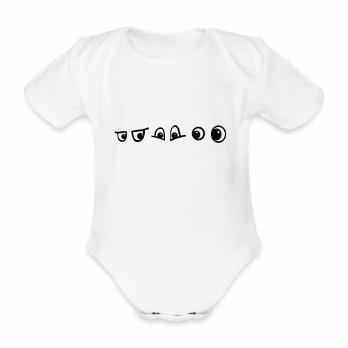 graffiti caracter augen - Baby Bio-Kurzarm-Body