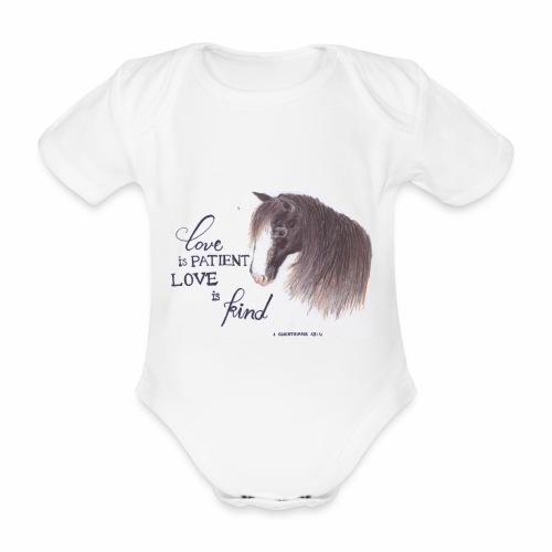 Pferd mit Bibelvers - Baby Bio-Kurzarm-Body