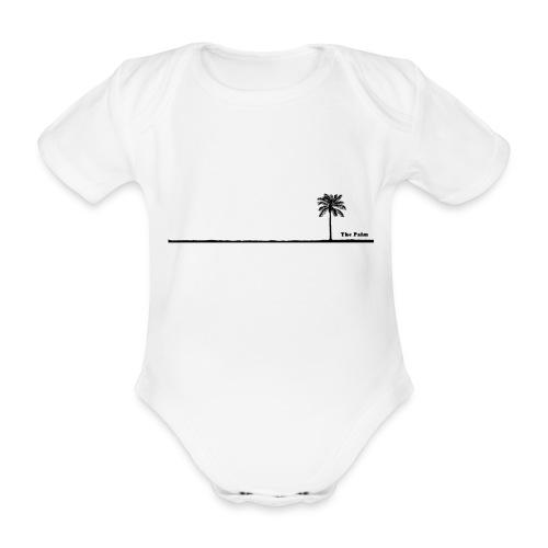 Palm dubai beach black and white - Body ecologico per neonato a manica corta