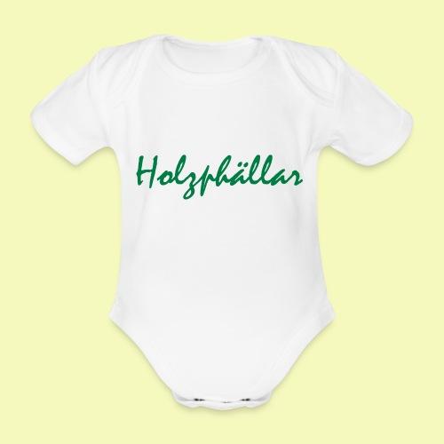 Schriftzug Grün - Baby Bio-Kurzarm-Body