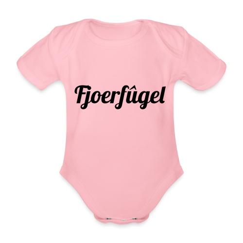 fjoerfugel - Baby bio-rompertje met korte mouwen