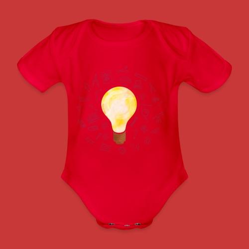 5 IDEEN Glühbirne 2018 - Baby Bio-Kurzarm-Body