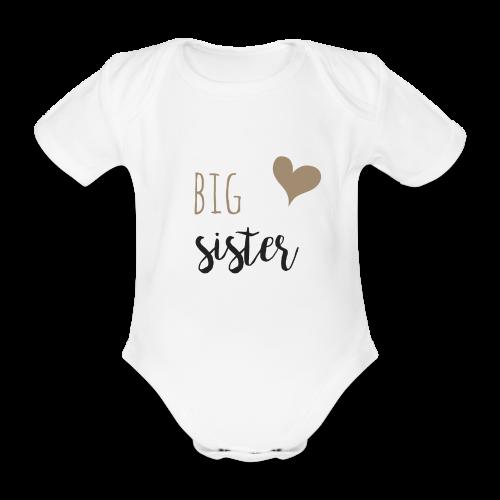 big sister Familyshirt - Baby Bio-Kurzarm-Body