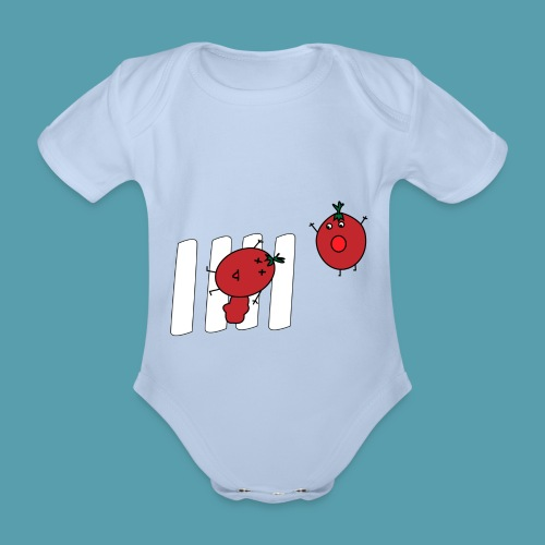 tomaatit - Vauvan lyhythihainen luomu-body
