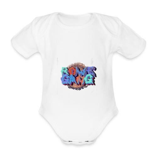 RoweGang Basic Logo - Vauvan lyhythihainen luomu-body