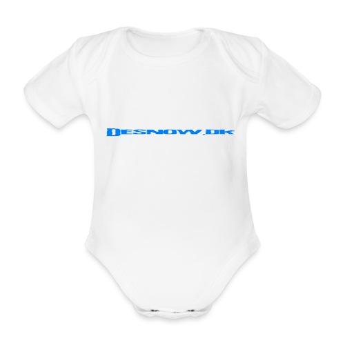 Desnow blue - Kortærmet babybody, økologisk bomuld