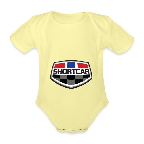 shortcarlogocolt - Økologisk kortermet baby-body