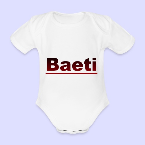 Baeti - Baby bio-rompertje met korte mouwen