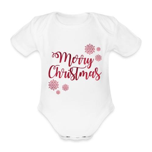 Merry christmas Noël New shape fane design vintage - Body Bébé bio manches courtes