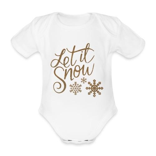 Let il snow Noël New shape fane design vintage - Body Bébé bio manches courtes