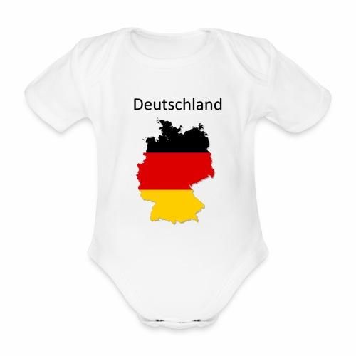 Deutschland Karte - Baby Bio-Kurzarm-Body