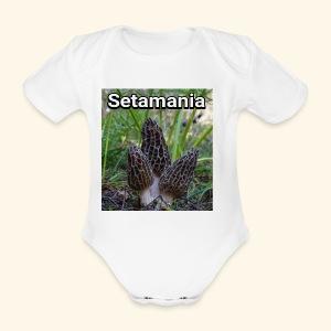 Colmenillas setamania - Body orgánico de maga corta para bebé