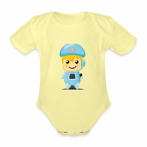 robot medico - Body orgánico de manga corta para bebé