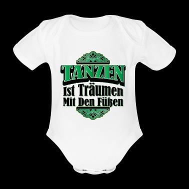 Danser Dancing Danser Gift flytte Hobby - Økologisk kortermet baby-body