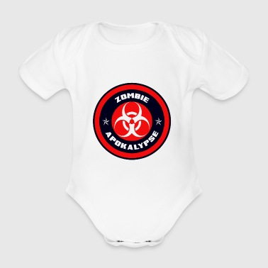Zombie Apocalypse - Kortærmet babybody, økologisk bomuld