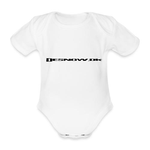 Desnow Black - Kortærmet babybody, økologisk bomuld