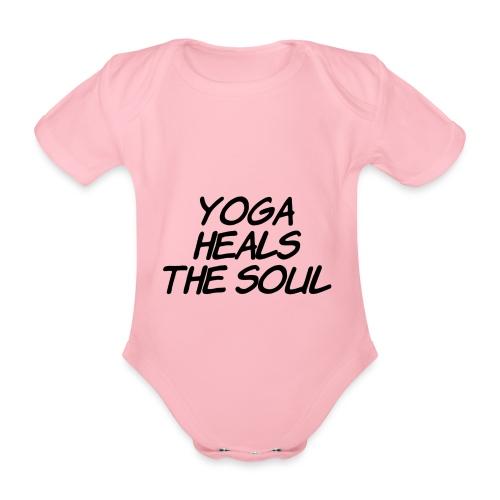 yoga - Baby bio-rompertje met korte mouwen