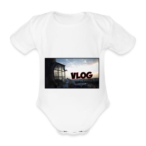 Vlog - Organic Short-sleeved Baby Bodysuit