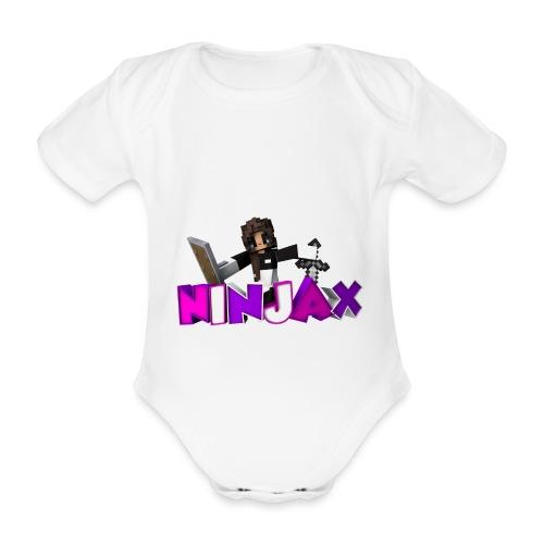 ninjax minecraft - Baby bio-rompertje met korte mouwen