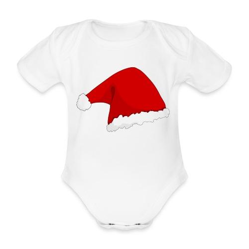 santas hat - Baby Bio-Kurzarm-Body