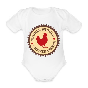 WINNER WINNER CHICKEN DINNER - Organic Short-sleeved Baby Bodysuit
