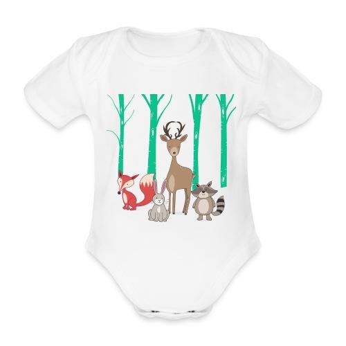 Las body dziecko - Ekologiczne body niemowlęce z krótkim rękawem