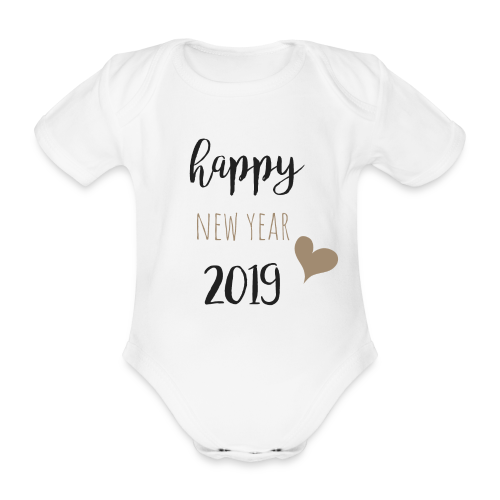 Happy New Year 2019 - Baby Bio-Kurzarm-Body