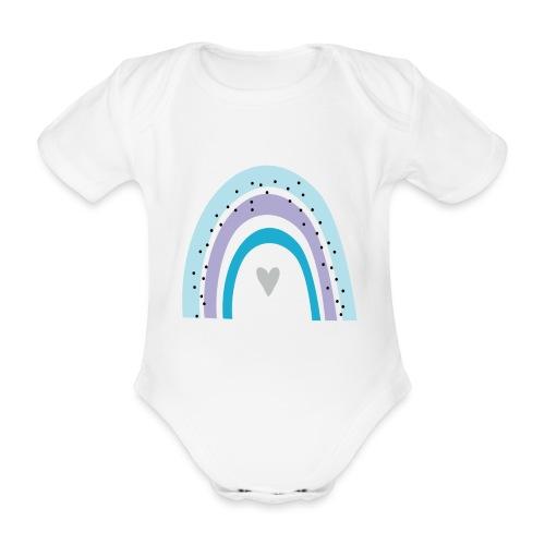 Regenbogen - Baby Bio-Kurzarm-Body