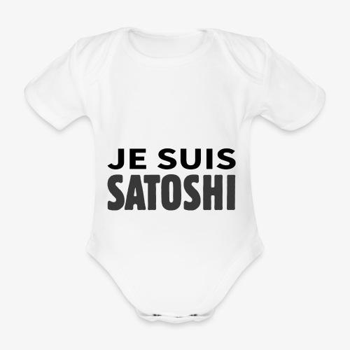 HODL-jesuis-b - Organic Short-sleeved Baby Bodysuit